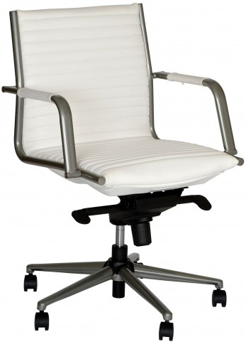 Leo Modern White Office Chair