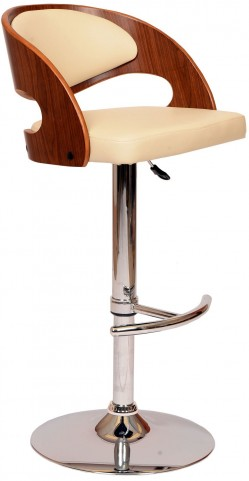 Malibu Cream Swivel Barstool