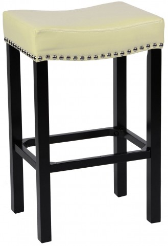 "Tudor 26"" Cream Bonded Leather Stool"