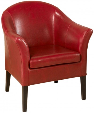 1404 Red Leather Club Chair