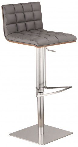 Oslo Gray Adjustable Barstool