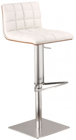 Oslo White Adjustable Barstool