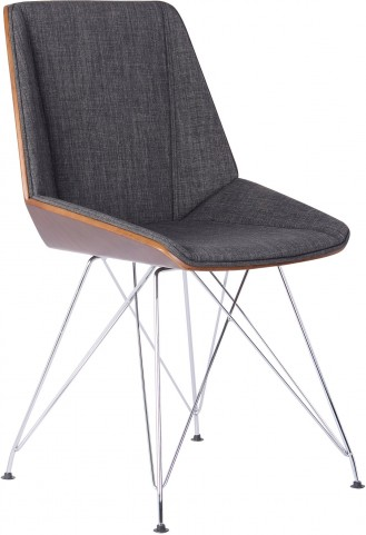 Pandora Charcoal Fabric Chair