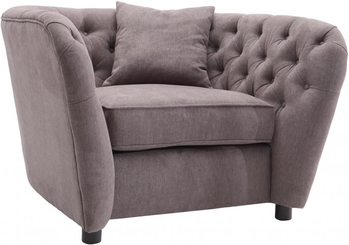Rhianna Brown Tufted Chair