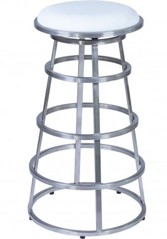 "Ringo 30"" Brushed Stainless Steel Barstool"