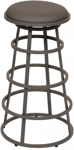 "Ringo 26"" Gray Metal Backless Barstool"