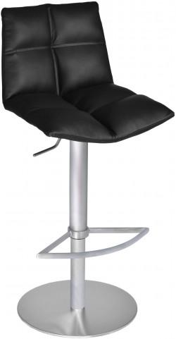 Roma Black Brushed Stainless Steel Adjustable Barstool