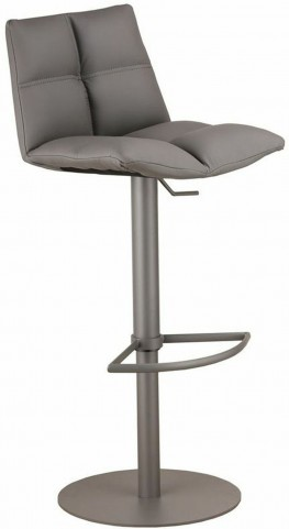 Roma Gray Metal Adjustable Barstool