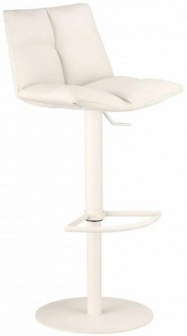 Roma White Adjustable Metal Barstool