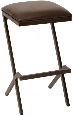 "Sasha 26"" Coffee and Auburn Bay Metal Barstool"