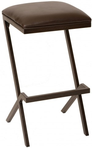 "Sasha 30"" Coffee and Auburn Bay Metal Barstool"