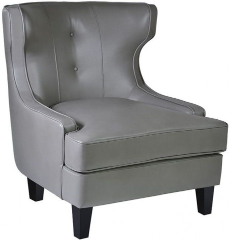 Skyline Smoke Bonded Leather Chair