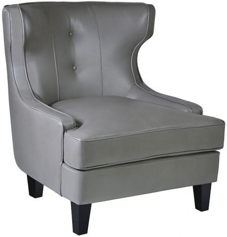 Skyline Smoke Bonded Leather Chair