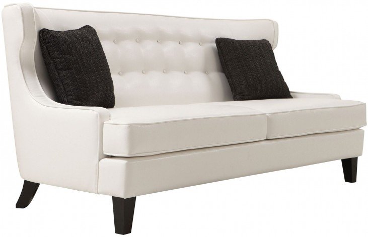 Skyline White Bonded Leather Sofa
