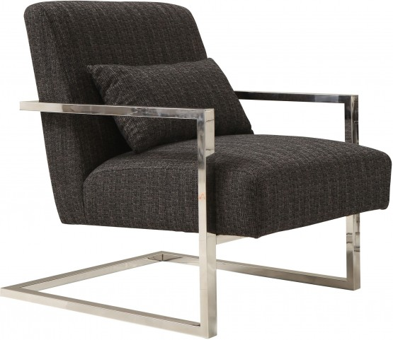 Skyline Charcoal Fabric Accent Chair