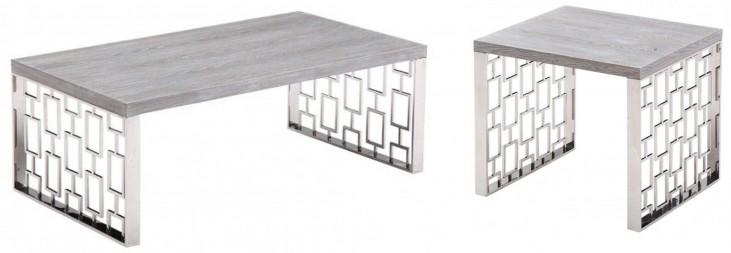 Skyline Grey Wash Occasional Table Set
