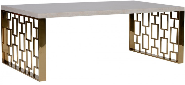 Skyline White Top Coffee Table