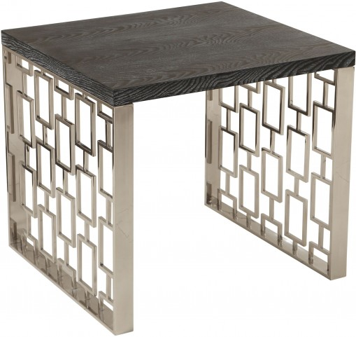 Skyline Black & Silver Lamp Table