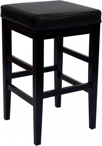 "Sonata 30"" Black Bonded Leather Stationary Barstool"
