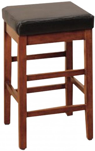"Sonata 26"" Brown Bonded Leather Stationary Barstool"