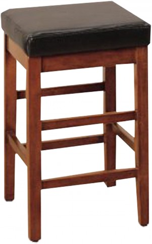 "Sonata 30"" Brown Bonded Leather Stationary Barstool"