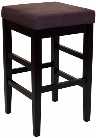 "Sonata 26"" Brown Microfiber Stationary Barstool"