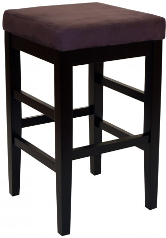 "Sonata 30"" Brown Microfiber Stationary Barstool"