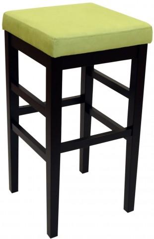 "Sonata 30"" Green Microfiber Stationary Barstool"