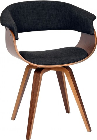 Summer Charcoal Fabric Modern Chair