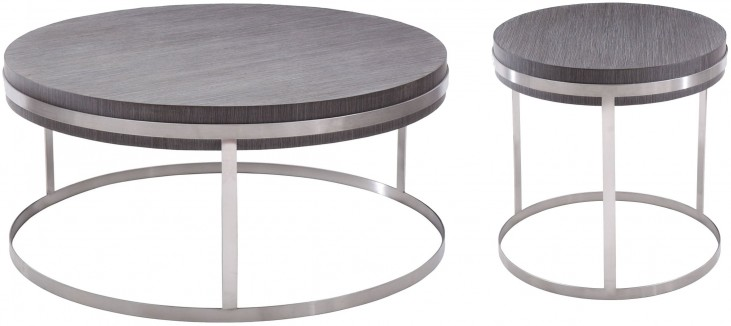 Sunset Grey Top Occasional Table Set
