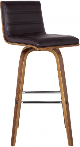 "Vienna 26"" Brown Walnut Wood Barstool"