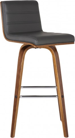 "Vienna 26"" Gray Walnut Wood Barstool"