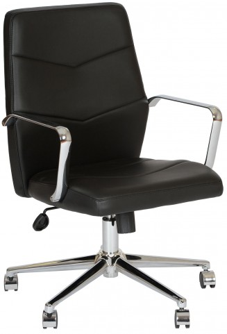 Viken Black and Chrome Office Chair