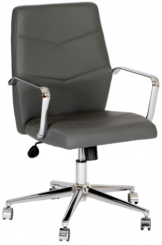 Viken Gray and Chrome Office Chair