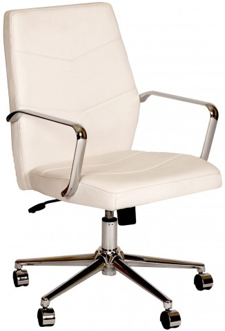 Viken White and Chrome Office Chair