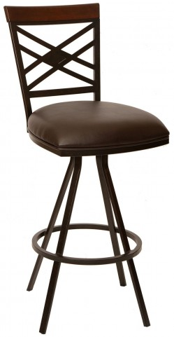 "Zoe 30"" Coffee and Auburn Bay Metal Armless Barstool"