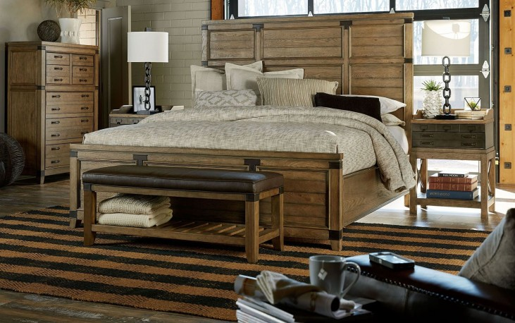 Metalworks Factory Chic Panel Bedroom Set