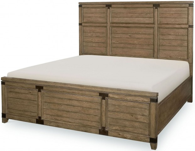Metalworks Factory Chic King Panel Bed