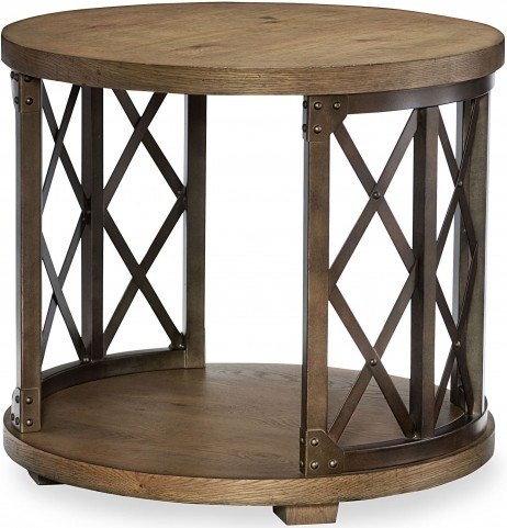 Metalworks Factory Chic Round Lamp Table