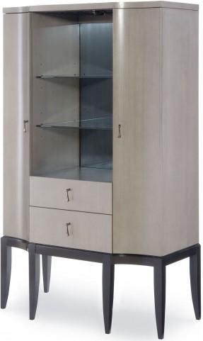 Symphony Platinum & Black Tie 2 Doors Bar Cabinet