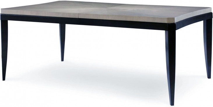 Symphony Platinum & Black Tie Extendable Rectangular Dining Table
