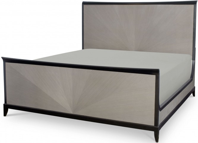 Symphony Platinum & Black Tie King Panel Bed