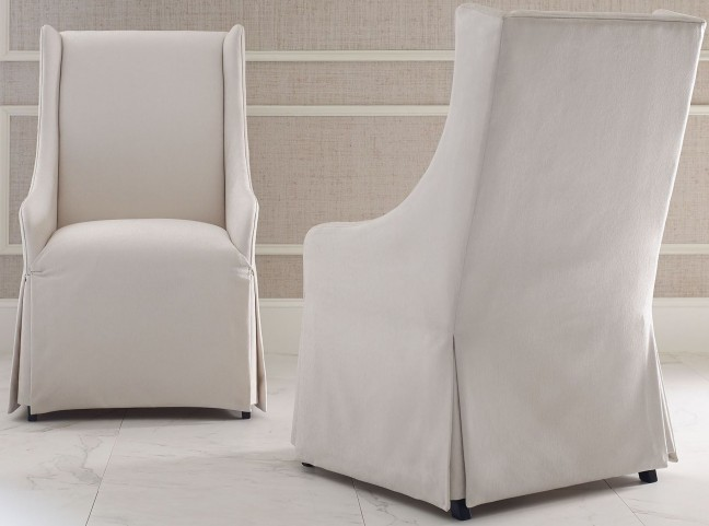 Symphony Platinum & Black Tie Upholstered Host Chair Set of 2
