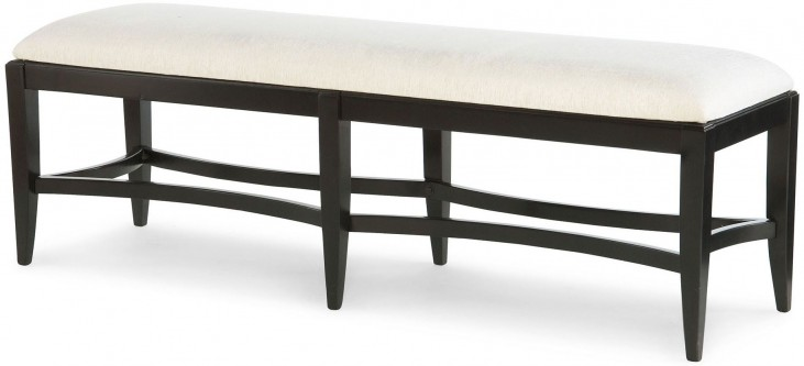 Symphony Platinum & Black Tie Bench