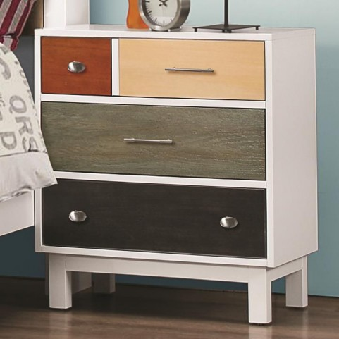 Lemoore Multi-Color 4 Drawer Nightstand