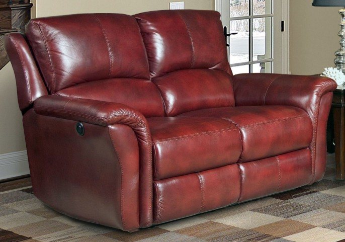Lewis Lipstick Dual Power Reclining Loveseat