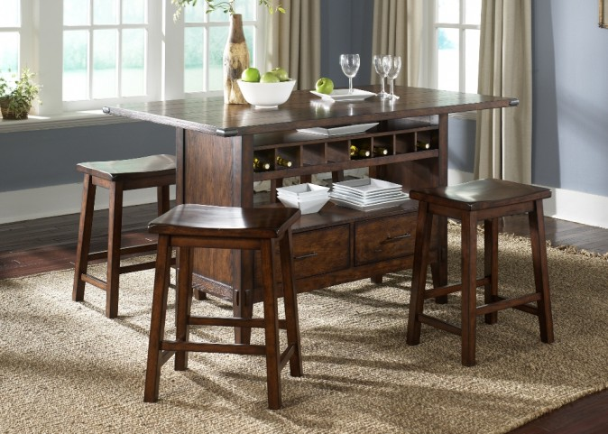 Cabin Fever Center Island Dinette Set