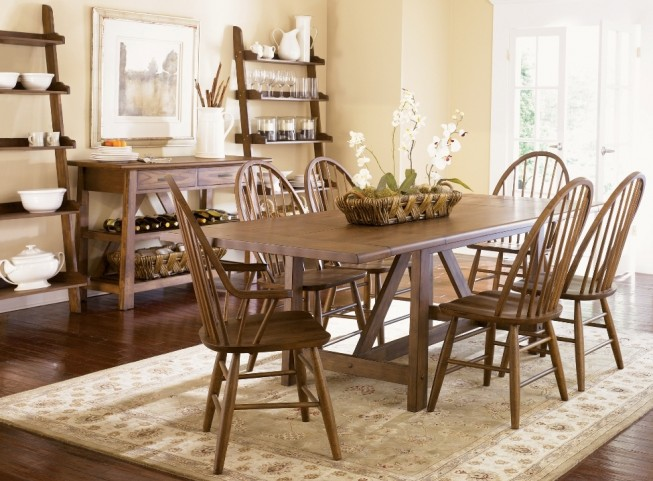 Farmhouse Trestle Dining Set