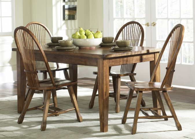 Treasures Oak Leg Dining Room Set