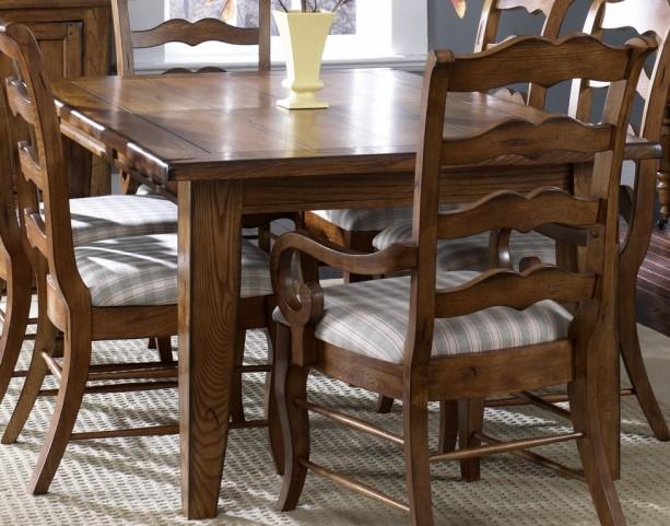 Treasures Oak Rectangular Leg Table - Liberty Furniture